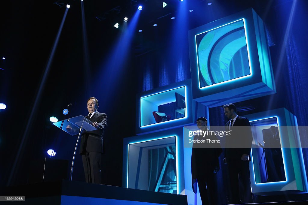 Brian Walsh presents on stage during the 2015 ASTRA Awards at The Star on March 12, 2015 in Sydney, Australia.