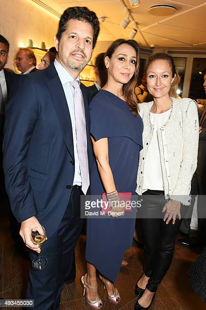 Brian Weinstein Sofia Barattieri di San Pietro and Anna Matthews attend the opening dinner for 12 Hay Hill hosted by 12 Hay Hill CEO Simon Robinson...