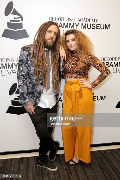 Brian Welch and Jennea Welch attend Reel To Reel Loud Krazy Love on December 12 2018 in Los Angeles California
