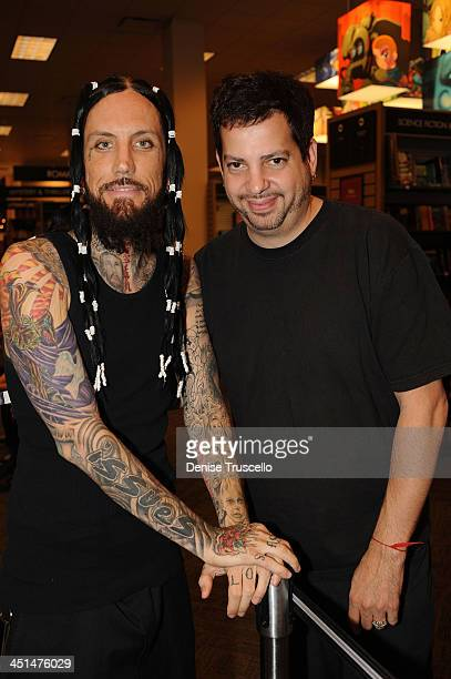 Brian Welch and Tommy Lipnick attend Welch's book signing at Borders Book store on September 17 2008 in Las Vegas Nevada