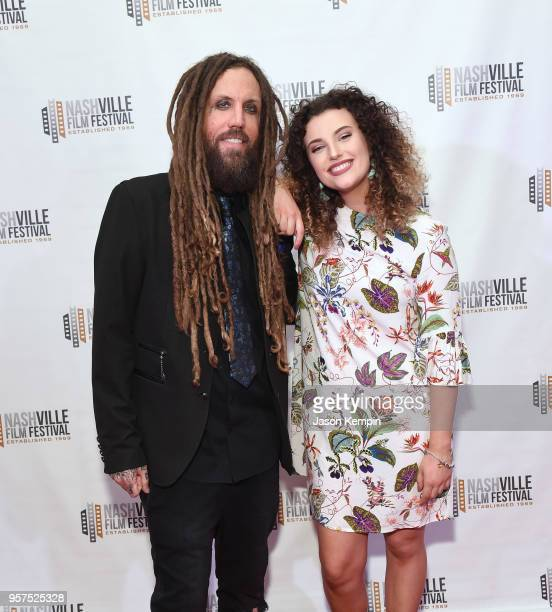 Brian Welch of the band Korn and daughter Jennea Welch attend the screening of Loud Krazy Love at the Regal 27 Hollywood Theater on May 11 2018 in...