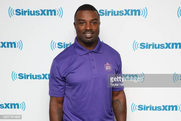 Brian Westbrook visits the SiriusXM Studios on September 5 2018 in New York City