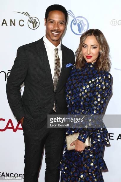 Brian White and his wife Paula Da Silva attend GEANCO Foundation Hollywood Gala at SLS Hotel on October 10 2019 in Beverly Hills California