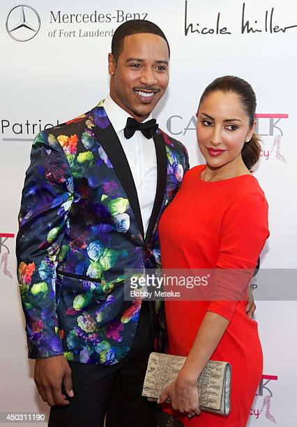 Brian White and Paula Da Silva attends the Catwalk for Charity 2014 fundrasing event at JW Marriott Marquis on June 8 2014 in Miami Florida