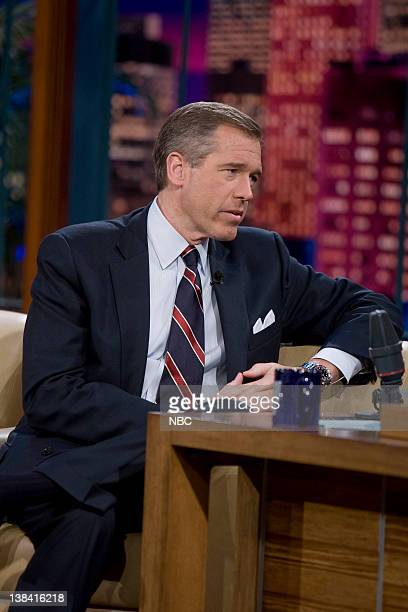LENO Brian Williams Air Date Episode 3669 Pictured NBC Nightly News anchor Brian Williams during an interview on December 4 2008