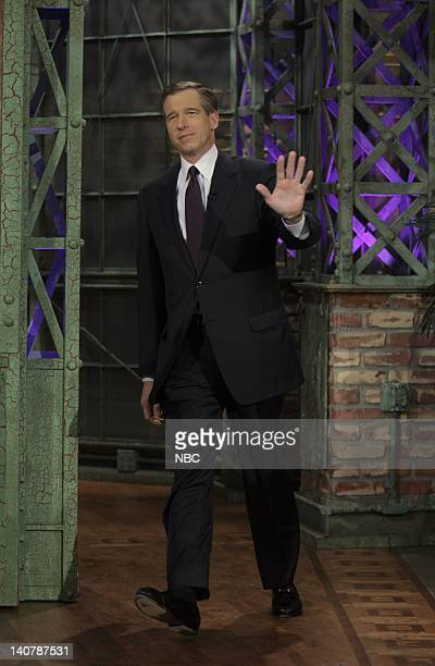 LENO Brian Williams Air Date 2/8/08 Episode 3494 Pictured Anchor and Managing Editor Brian Williams of NBC Nightly News with Brian Williams arrives...