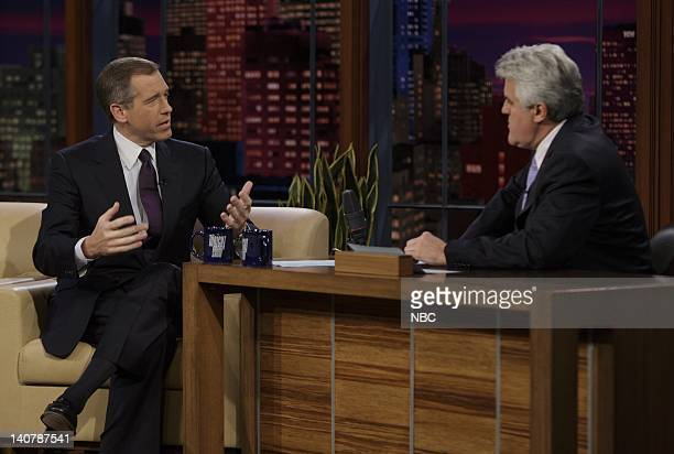 LENO Brian Williams Air Date 2/8/08 Episode 3494 Pictured Anchor and Managing Editor Brian Williams of NBC Nightly News with Brian Williams during an...