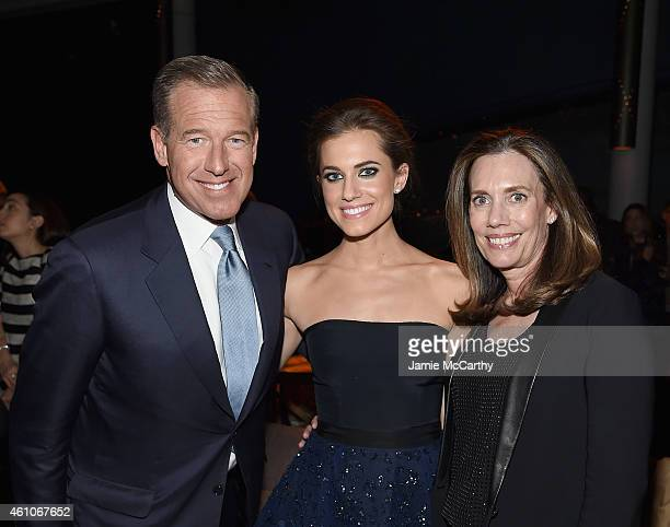 Brian Williams Allison Williams and Jane Stoddard Williams attend the Girls season four series premiere after party at The Museum of Natural History...