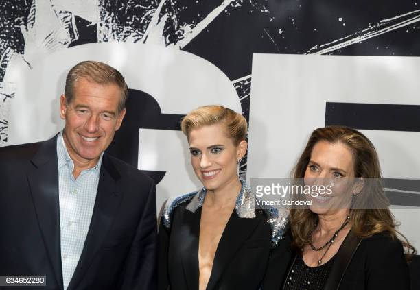 Brian Williams Allison Williams and Jane Stoddard Williams attend the screening of Universal Pictures' Get Out at Regal LA Live Stadium 14 on...