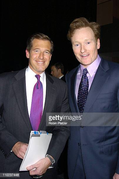 Brian Williams and Conan O'Brien during NYC and Company Honors Leaders in Tourism at The Museum of Modern Art in New York City New York United States