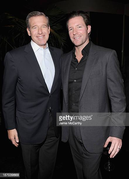 Brian Williams and Edward Burns attend the after party for the Tribeca Film's Special New York Screening Of The Fitzgerald Family Christmas at the...