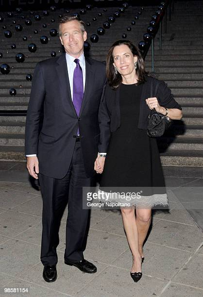 Brian Williams and Jane Stoddard Williams arrive at New York State Supreme Court for the Vanity Fair Party during the 2010 Tribeca Film Festival on...