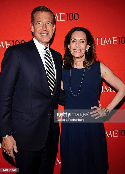 Brian Williams and Jane Stoddard Williams attend the Time 100 gala at Frederick P Rose Hall Jazz at Lincoln Center on April 24 2012 in New York City