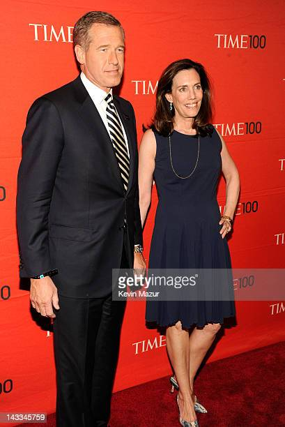 Brian Williams and Jane Stoddard Williams attend the TIME 100 Gala celebrating TIME'S 100 Most Infuential People In The World at Jazz at Lincoln...