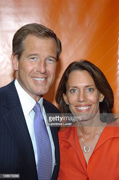 Brian Williams and Jane Stoddard Williams during 2005/2006 NBC UpFront Red Carpet at Radio City Music Hall in New York NY United States