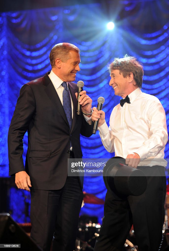 Brian Williams (L) and Martin Short entertain attendees at the 2013 Toys'R'Us Children''s Fund Gala on Thursday, May 16 in New York City. One of the largest, single-night fundraisers in New York City, the Toys'R'Us Children's Fund Gala has raised more than $100 million, since its inception, to support charitable organizations that keep children safe and help them in times of need.