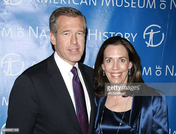 Brian Williams and wife Jane Stoddard Williams attend the 2010 Museum Gala at the American Museum of Natural History on November 18 2010 in New York...
