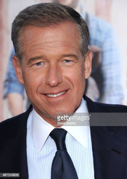 Brian Williams arrives at the 'Neighbors' Los Angeles Premiere at Regency Village Theatre on April 28 2014 in Westwood California