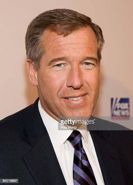 Brian Williams attends salute to Brit Hume at Cafe Milano on January 8, 2009 in Washington, DC.