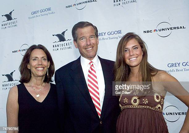 Brian Williams center and his wife Jane Stoddard Williams left and their daughter Allison Williams right at the 11th Annual Nantucket Film Festival...