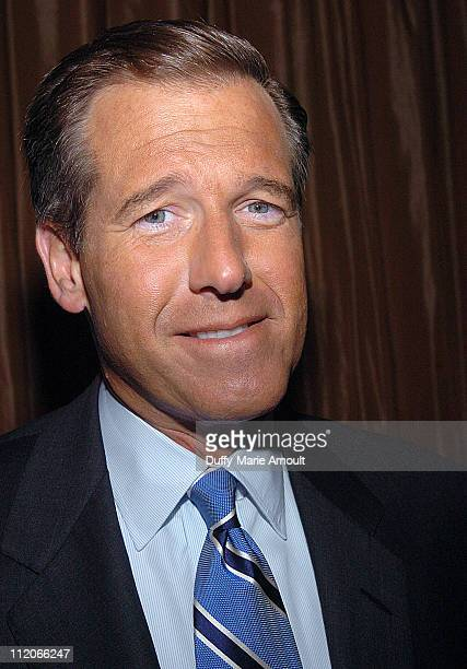 Brian Williams of NBC News during The Committee to Protect Journalists Honors Walter Cronkite's 25 Years of Service as Honorary Chairman at Cafe Gray...