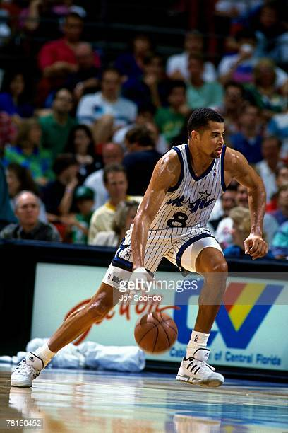 Brian Williams of the Orlando Magic drives to the basket circa 1991 at the Orlando Arena in Orlando Florida NOTE TO USER User expressly acknowledges...