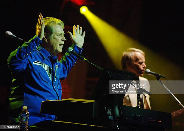 Brian Wilson and Al Jardine during Brian Wilson's Pet Sounds 40th Anniversary Celebration and Final Performance in its Entirety at Beacon Theatre in...