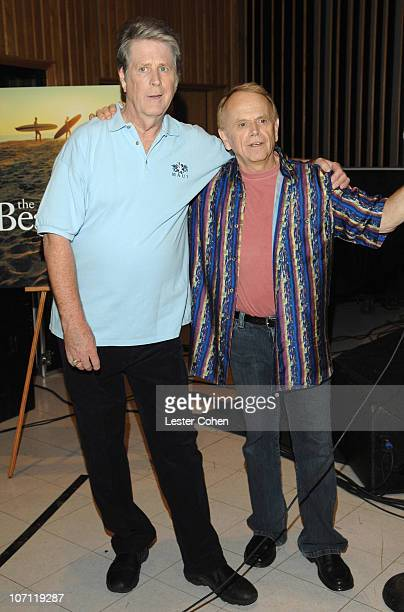Brian Wilson and Al Jardine of the Beach Boys during Brian Wilson Performs Songs From 'Pet Sounds' to Support 'Definitive 200' Campaign at Capitol...