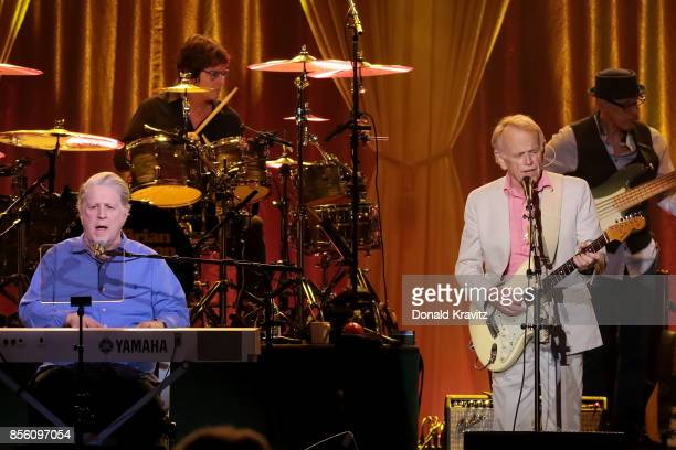 Brian Wilson and Al Jardine perform The Beach Boys Pet Sounds in concert at Golden Nugget on September 30, 2017 in Atlantic City, New Jersey.