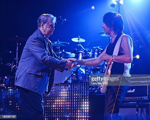 Brian Wilson and Jeff Beck perform at Hard Rock Live in the Seminole Hard Rock Hotel Casino on September 27 2013 in Hollywood Florida