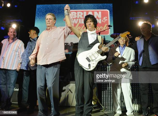 Brian Wilson and Jeff Beck perform on the Brian Wilson and Jeff Beck Tour at The Paramount Theatre on October 22 2013 in Oakland California