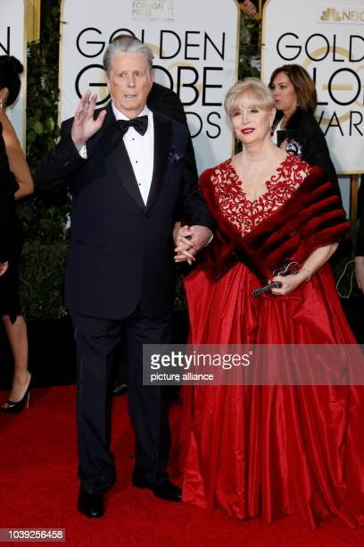 Brian Wilson and Melinda Ledbetter arrive at the 73rd Annual Golden Globe Awards, Golden Globes, in Beverly Hills, Los Angeles, USA, on 10 January...