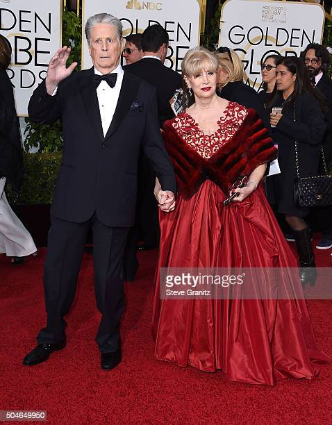 Brian Wilson and Melinda Ledbetter arrives at the 73rd Annual Golden Globe Awards at The Beverly Hilton Hotel on January 10 2016 in Beverly Hills...