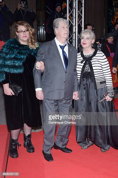 Brian Wilson and Melinda Ledbetter attend the 'Love Mercy' premiere during the 65th Berlinale International Film Festival at FriedrichstadtPalast on...