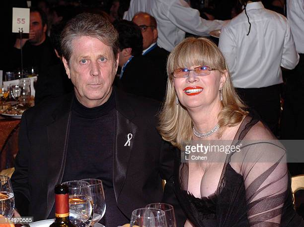 Brian Wilson and wife Melinda Wilson during 2005 MusiCares Person of the Year Brian Wilson Backstage and Audience at Palladium in Hollywood...