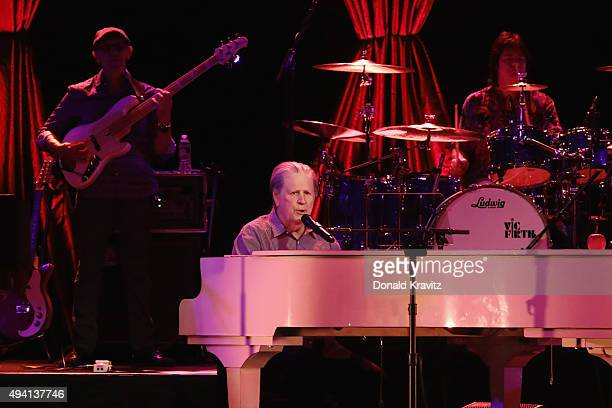 Brian Wilson, co-founder of The Beach Boys performs at Tropicana Showroom on October 24, 2015 in Atlantic City, New Jersey.