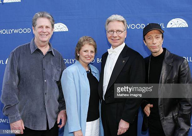 Brian Wilson Deborah Borda President Los Angeles Philharmonic Association John Mauceri conductor and Robin Gibb