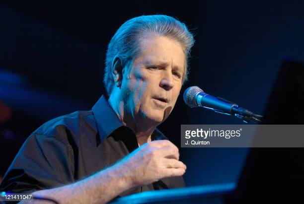 Brian Wilson during Brian Wilson Presents 'SMiLE' Soundcheck Day 2 at Royal Festival Hall in London London Great Britain