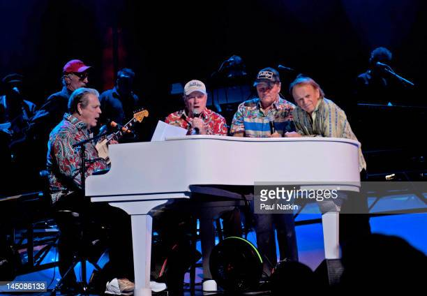 Brian Wilson Mike Love Bruce Johnston and Al Jardine performs at the Chicago Theatre on May 22 2012 in Chicago Illinois