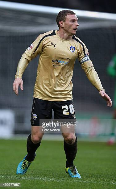 Brian Wilson of Colchester United in action during the Sky Bet League One match between Milton Keynes Dons and Colchester United at Stadium MK on...
