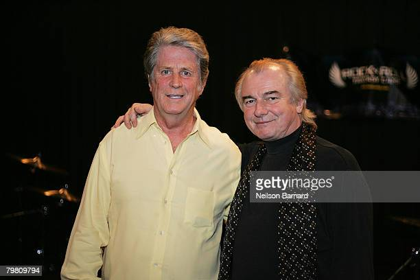 Brian Wilson of 'The Beach Boys' and musician Alan White of 'Yes' attend the Rock 'N' Roll Fantasy Camp at SIR Recording studios February 16 2008 in...