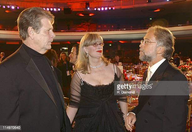 Brian Wilson wife Melinda Wilson and Neil Portnow president of the Recording Academy Photo by R Diamond/WireImage for The Recording Academy