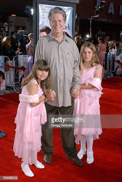 Brian Wilson with daughters Daria and Delanie at the National Theatre in Westwood California