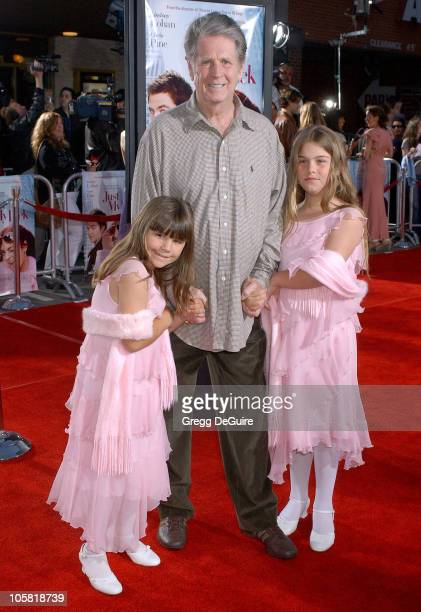 Brian Wilson with daughters Daria and Delanie during Just My Luck Los Angeles Premiere Arrivals at National Theatre in Westwood California United...