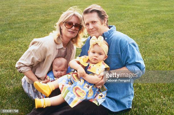 Brian Wilson with Wife Melinda and Daughters Delanie and Daria