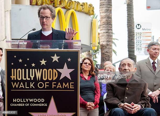 Brian Witten and Jack H Harris attend the ceremony honoring Jack H Hasrris on THe Hollywood Walk of Fame on February 4 2014 in Hollywood California