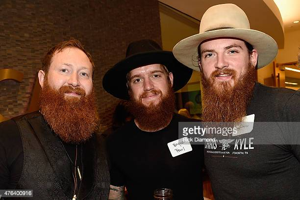 Brian Wolff Bryce Paul and Tim Montana attend the 23rd Annual CAA BBQ at Creative Artists Agency's Nashville office on June 8 2015 in Nashville...