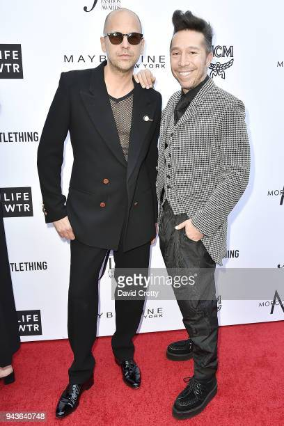 Brian Wolk and Claude Morais attend The Daily Front Row's 4th Annual Fashion Los Angeles Awards Arrivals at The Beverly Hills Hotel on April 8 2018...