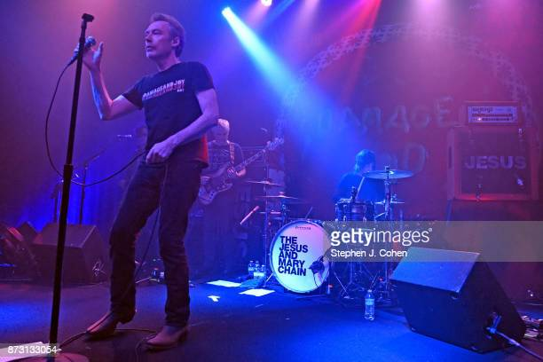 Brian Young and Jim Reid of The Jesus And Mary Chain performs at Headliners Music Hall on November 11 2017 in Louisville Kentucky