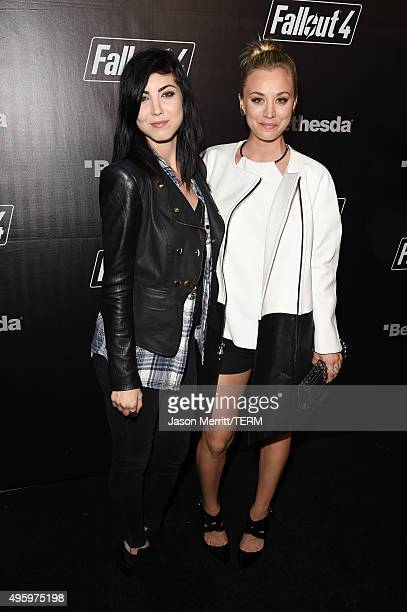 Briana Cuoco and actress Kaley Cuoco attend the Fallout 4 video game launch event in downtown Los Angeles on November 5 2015 in Los Angeles California
